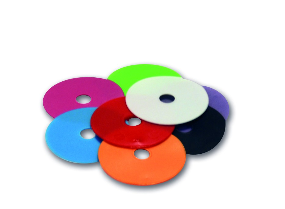 Coloured Visual washer inserts (Management tags only)